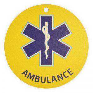 Autobordje Ambulancier (rond – diameter 10cm)