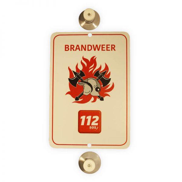 Autobordje Brandweer 112 (16cm x 11cm)
