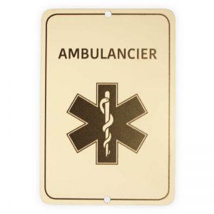 Autobordje Ambulancier [niet dringend ziekenvervoer] (16cm x 11cm)