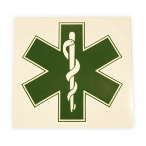 sticker star of life groen
