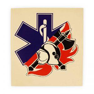 brandweer sticker