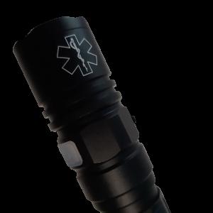 Tactisch LED flashlight | OPLAADBARE batterij | Star of Life laser engraving