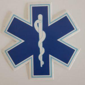 star of life sticker blauw