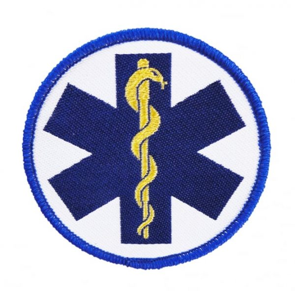 Star of life patch blauw