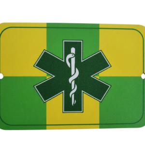 Autobordje BATTENBURG | STAR OF LIFE GROEN (verpleegkundige)