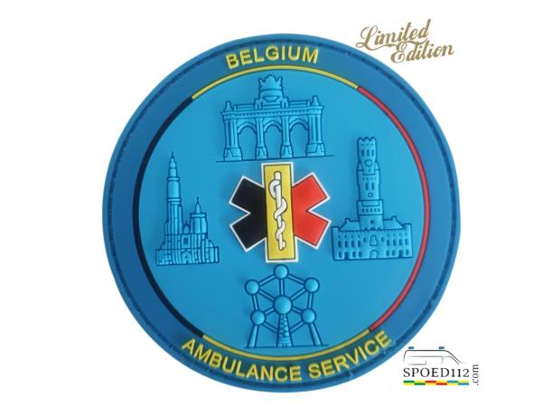 3D COLLECTORS PATCH 'Belgium Ambulance Service' NR 1 >GELIMITEERD