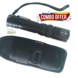 COMBO DEAL: Tactisch LED flashlight + Holster Stretch