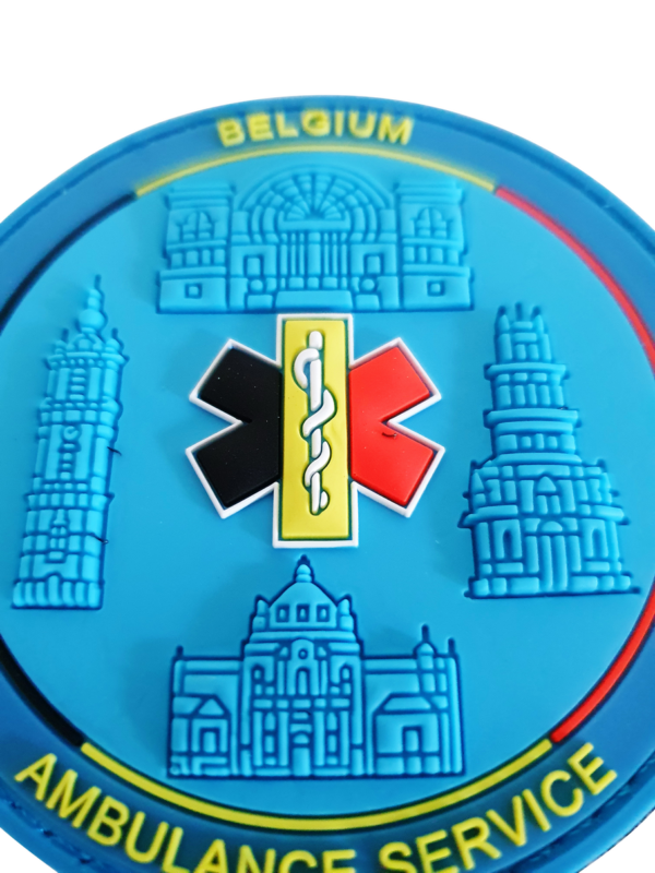 3D COLLECTORS PATCH 'Belgium Ambulance Service' NR 3 >GELIMITEERD