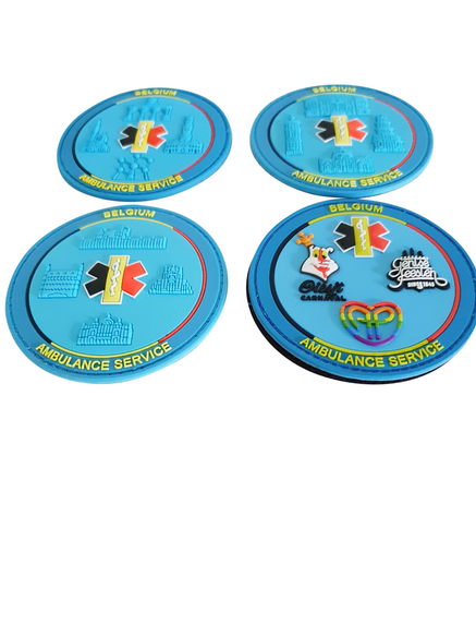 3D COLLECTORS PATCH 'Belgium Ambulance Service' NRS 1, 2, 3 & 4 >GELIMITEERD