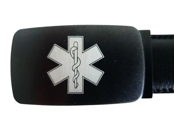 Broeksriem leder met Star of Life logo (gelaserd)
