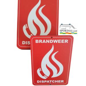 Autobordje Brandweer – Dispatcher (16cm x 11cm)