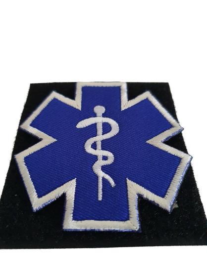 Patch SoL (contour) blauw – geborduurd