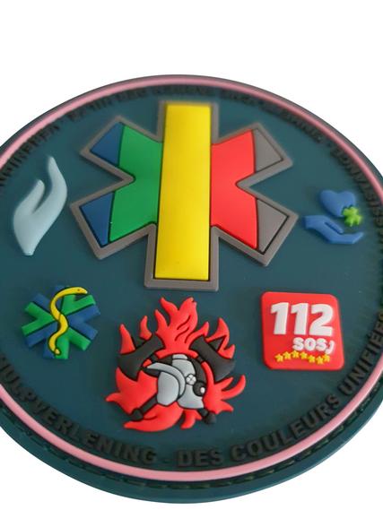3D PVC patch 'verenigde kleuren van de hulpverlening'