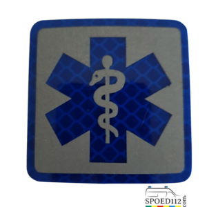 Velcro patch SoL BLAUW reflecterend (ambulancier -hulpverlener)