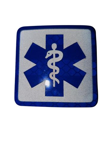 Velcro patch SoL BLAUW reflecterend (ambulancier -hulpverlener)
