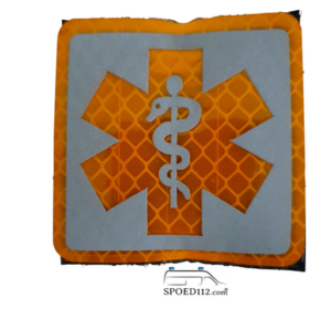 Velcro patch SoL GEEL reflecterend (ambulancier - EHBO)