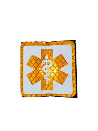 Velcro patch SoL GEEL reflecterend (ambulancier - EHBO)