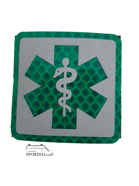 Velcro patch SoL GROEN reflecterend (verpleegkundigen)