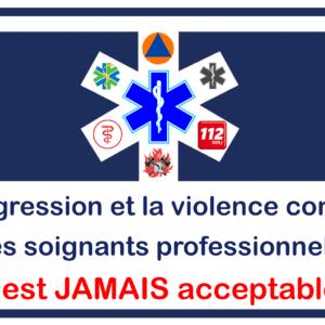 Sticker tegen agressie en geweld FRANS