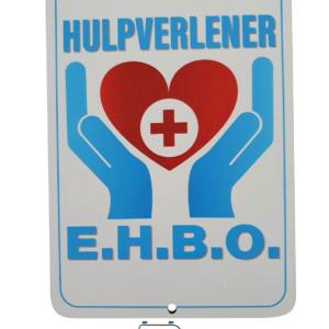 Autobordje HULPVERLENER E.H.B.O. (16cm x 11cm)
