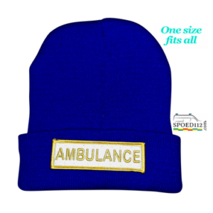 Muts (beanie) AMBULANCE met reflecterende patch BLAUW