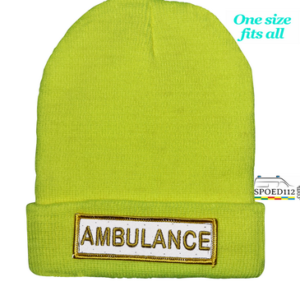 Muts (beanie) AMBULANCE met reflecterende patch FLUO GEEL