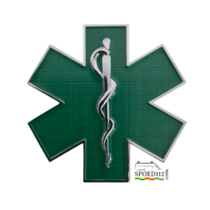 3D Metalen 'Sticker' STAR OF LIFE Groen (verpleegkundige)