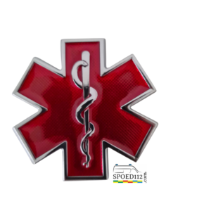 3D Metalen 'Sticker' STAR OF LIFE Rood (arts)