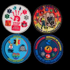 Ambulancier, verpleegkundige, politie, brandweer patches & emblemen