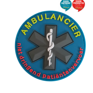 ambulancier patch badge